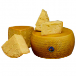 <p>Grana Padano D.O.P. (P.D.O. = Protected Designation of Origin) is a semi-fat hard cheese, cooked and slow to mature, made with the raw milk of cows whose basic feed is green or preserved fodder. The milk, taking from two daily milkings, is partially skimmed, taking the cream off the top.</p>