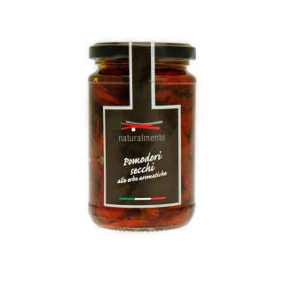 Sun dried Tomatoes in aromatic herbs in Extra Virgin olive oil