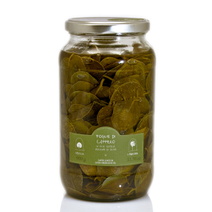 Pantelleria caper leaves in extra virgin olive oil