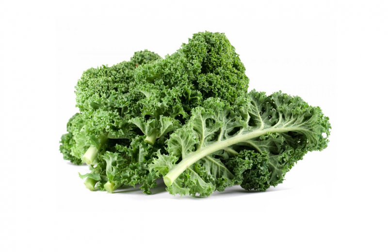 A member of the cabbage family, kale comes in two forms: kale, which has smooth leaves, and curly kale, which has crinkly leaves. Curly kale is the most common of the two. Instead of forming a head, the leaves grow in a loose rosette at the top of a stem. The leaves are green, sometimes tinged with blue or purple, and their flavour is strong and distinct.  Kale is one of the healthiest veggies you can put on your plate. One serving, which contains just 30 calories, provides a day's worth of vitamin C, twice the recommended daily intake of vitamin A, and nearly seven times the recommended amount of vitamin K. Add a sizable dose of minerals and healthy fatty acids, and you've got yourself a nutrition powerhouse.