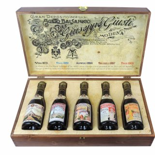 Giusti Balsamic Vinegar Historical  Expo Collections 20 Years 5x250ml