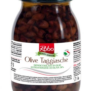 Pitted Taggiasca Olives in Extra Virgin olive oil 900g Robo
