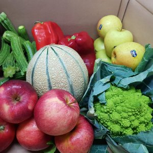 Standard Italian vegetables and fruit box