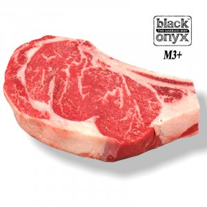 Pure Black Angus Black Onyx Bone in Rib Eye M3+ 1kg