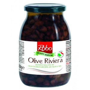 Riviera Olives in extra virgin olive oil 900gr Robo