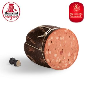 Mortadella with Truffles sliced