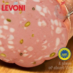 "Mortadella Bologna IGP ""Glutammate free"" with Pistachos by piece"