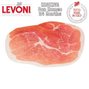 Parma DOP Don Romeo Riserva 24 Months Cured Ham sliced