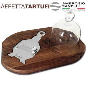 Truffle Serving Walnut Wooden Set with Slicer