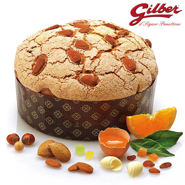 Piedmont Panettone Hazelnut Frosting 1Kg Gilber detail of artisanal made panettonel